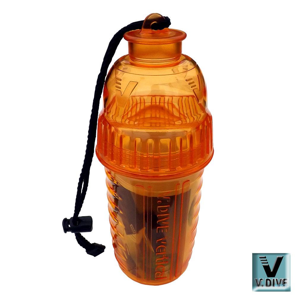 V.DIVE 威帶夫造型防水盒  VBD01C透明晶亮橘