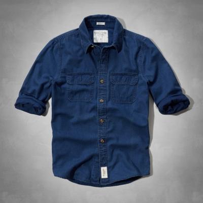 AF a&f Abercrombie & Fitch 長袖 襯衫 深藍 269