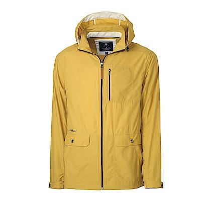 【Wildland 荒野】男SUPPLEX抗UV時尚外套黃