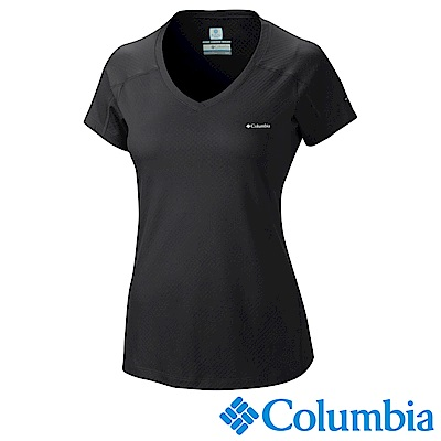Columbia 哥倫比亞女款-防曬30涼感快排短袖上衣-黑色 UAR69140BK