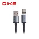 DIKE 磁吸充電線1M 附Micro USB接頭/太空灰 DLM210GY