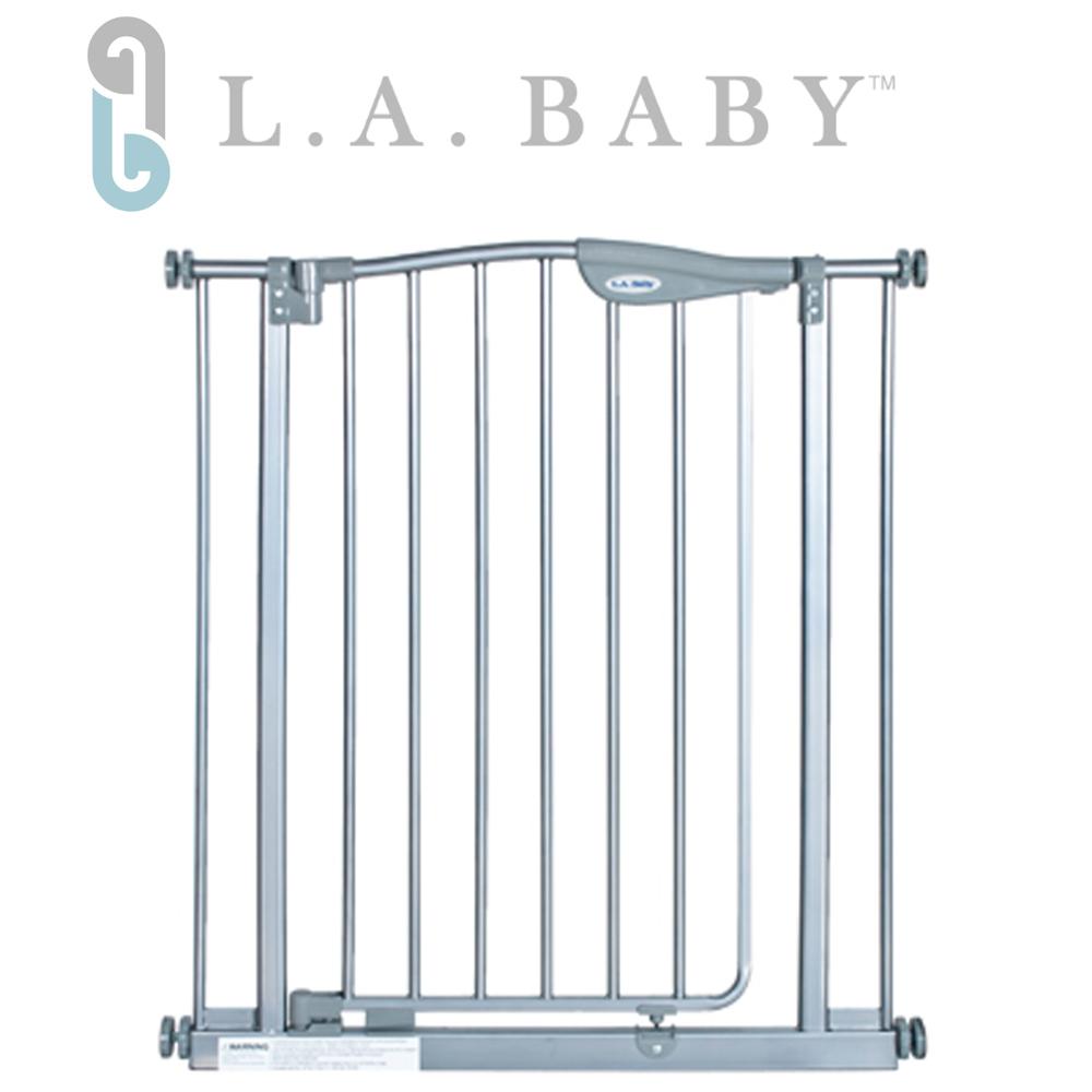 【美國 L.A. Baby】雙向自動回彈上鎖安全幼兒鐵門欄(微角度自動回彈上鎖)