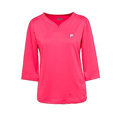 FILA 女抗UV吸濕排汗T恤-桃 5TES-1311-PC