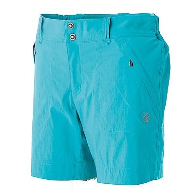 【Wildland 荒野】女彈性抗UV短褲藍