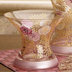 Madiggan鬱金香系列手工彩繪寬口曲線花瓶-小(紫紅.藍色可選)
