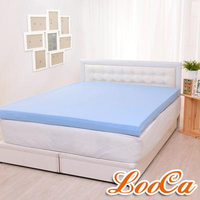 LooCa 雙層超透氣10cm一體成型乳膠床墊 加大6尺