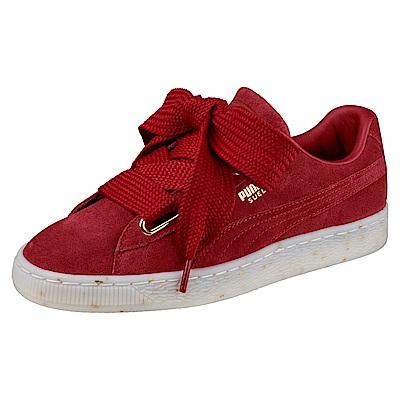 PUMA-SuedeHeartCelebrateWns女復古鞋-鮮亮紅