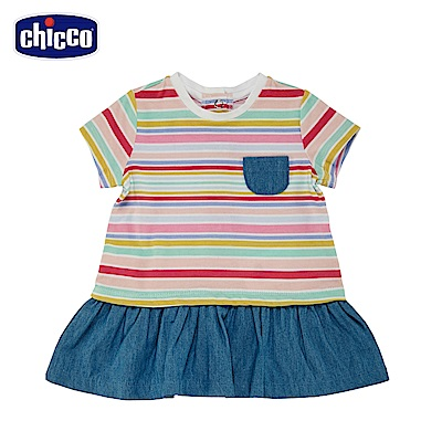 chicco-To Be Baby-短袖洋裝-彩條(12個月-4歲)