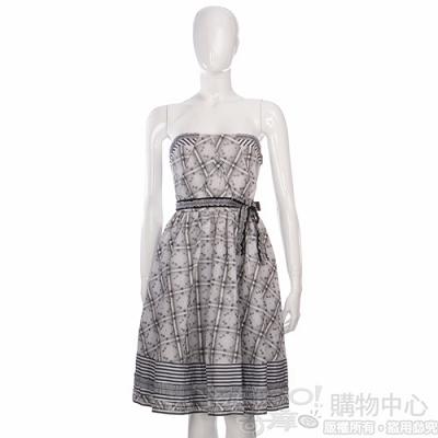KENZO-I'M MARRAS系列 黑白色繡花平口洋裝