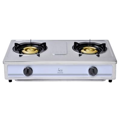和成HCG 鑄鐵銅粉爐頭琺瑯爐架整機不鏽鋼傳統式二口瓦斯爐(GS200Q)