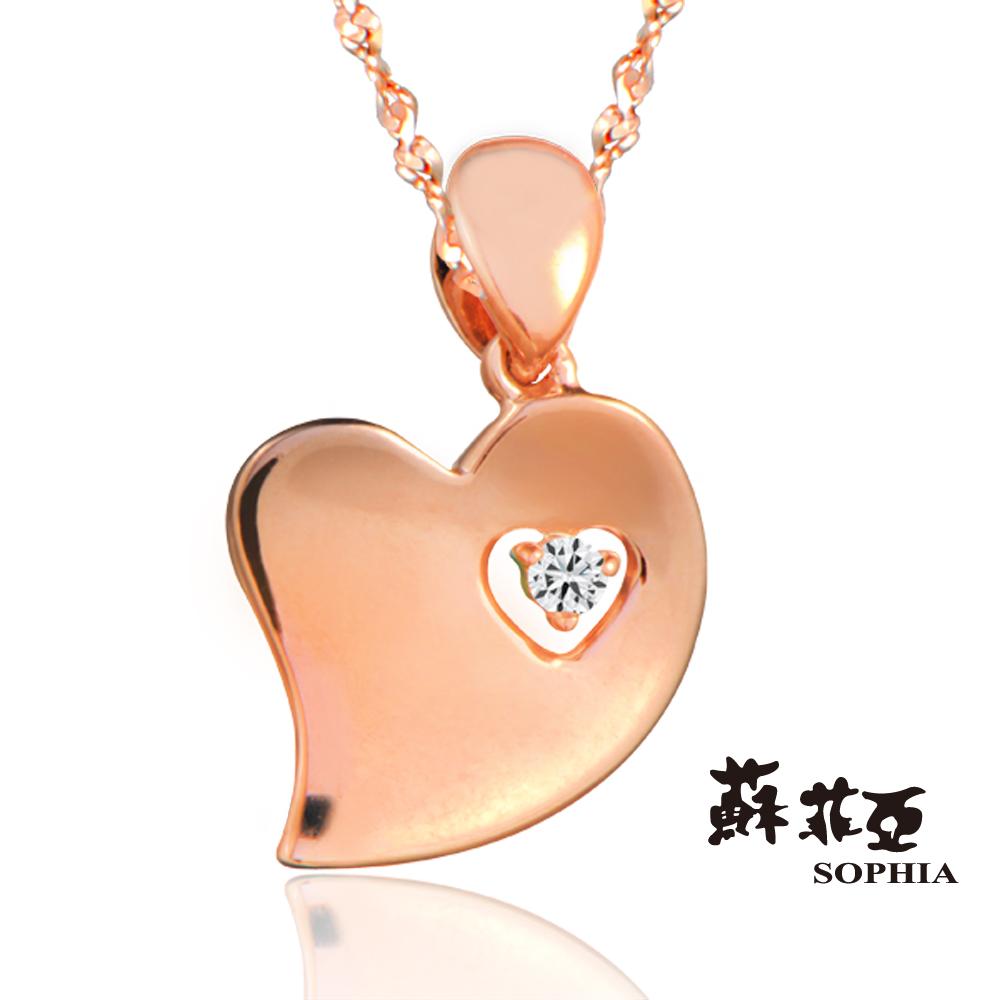 蘇菲亞 SOPHIA - 費歐娜 FIONA 玫瑰金鑽石項鍊