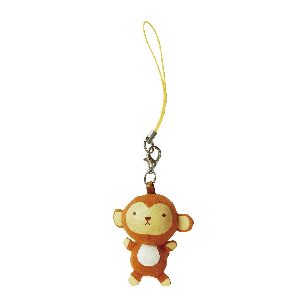 UNIQUE 動物樂園迷你公仔吊飾。小猴子