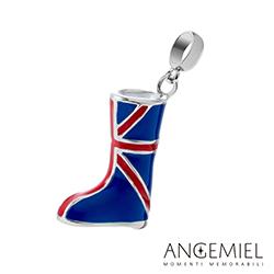 Angemiel安婕米串珠 925純銀吊飾 英倫長靴