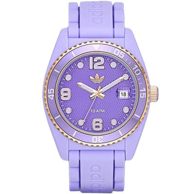 adidas愛迪達潮流玩色運動手錶-紫/42mm