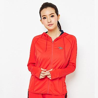 【TOP GIRL】馬卡龍色抗UV吸排連帽外套-亮紅