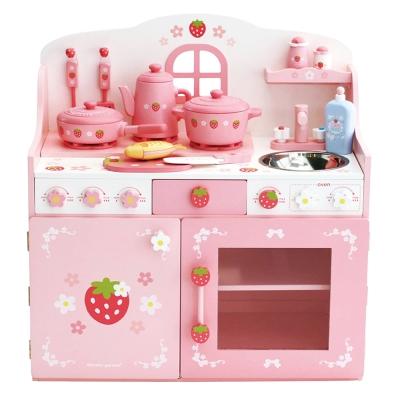 日本Mother Garden 野草莓粉緞鑄鐵鍋廚房組