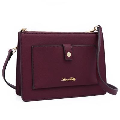 ANNA DOLLY 清新甜夏Gloria多層次小方包 藏紅紫