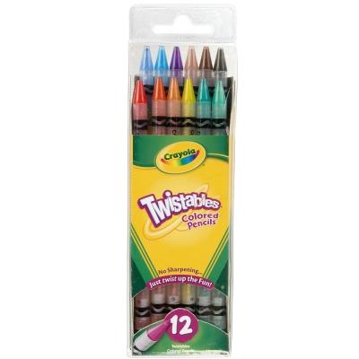 美國crayola 精選系列-旋轉12色彩色鉛筆(4Y+)