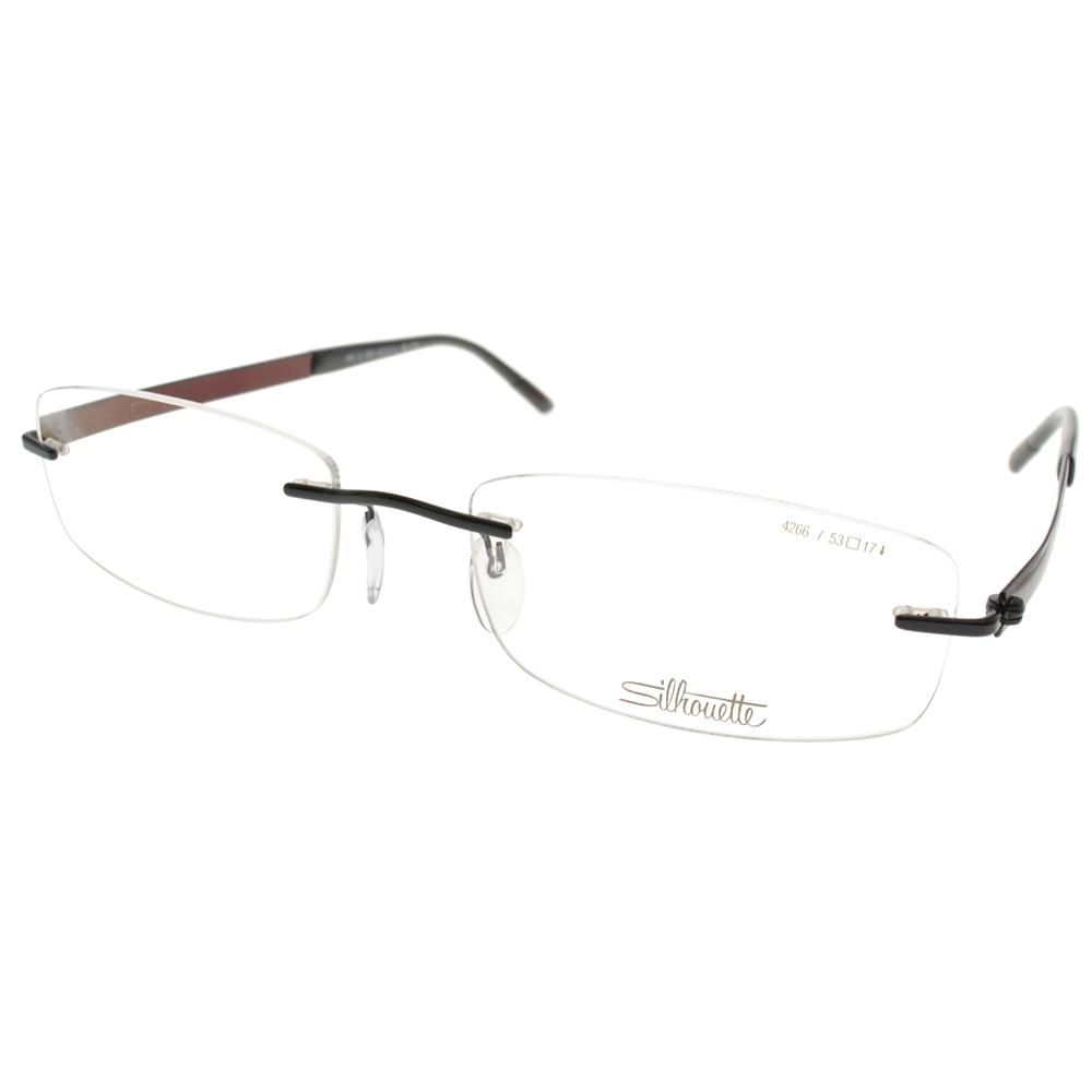Silhouette詩樂眼鏡 質感無框/黑-紅棕#ST4266 C6059