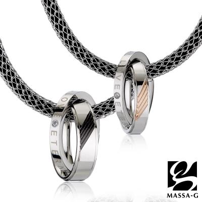 MASSA-G【率性】搭配X1 4mm合金鍺鈦對鍊