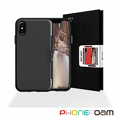 Phonefoam GOLFLIGHT iPhoneX 插卡式立架吸震保護殼