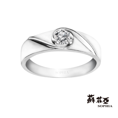 蘇菲亞SOPHIA 鑽戒-熱戀0.08克拉鑽石男戒