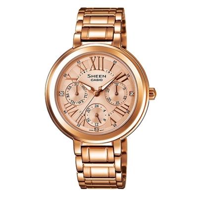 SHEEN 完美閃耀羅馬時刻施華洛世奇腕錶(SHE-3034PG-9)-玫瑰金IP/34mm