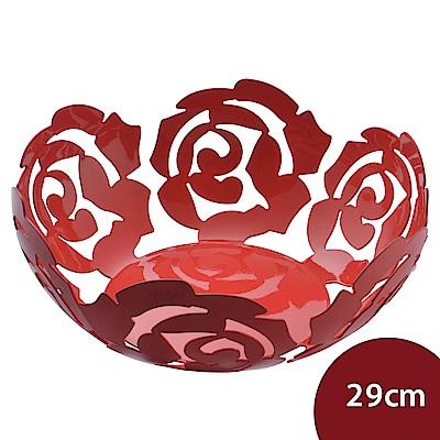 Alessi 義大利 玫瑰水果籃 置物籃 紅色 29cm