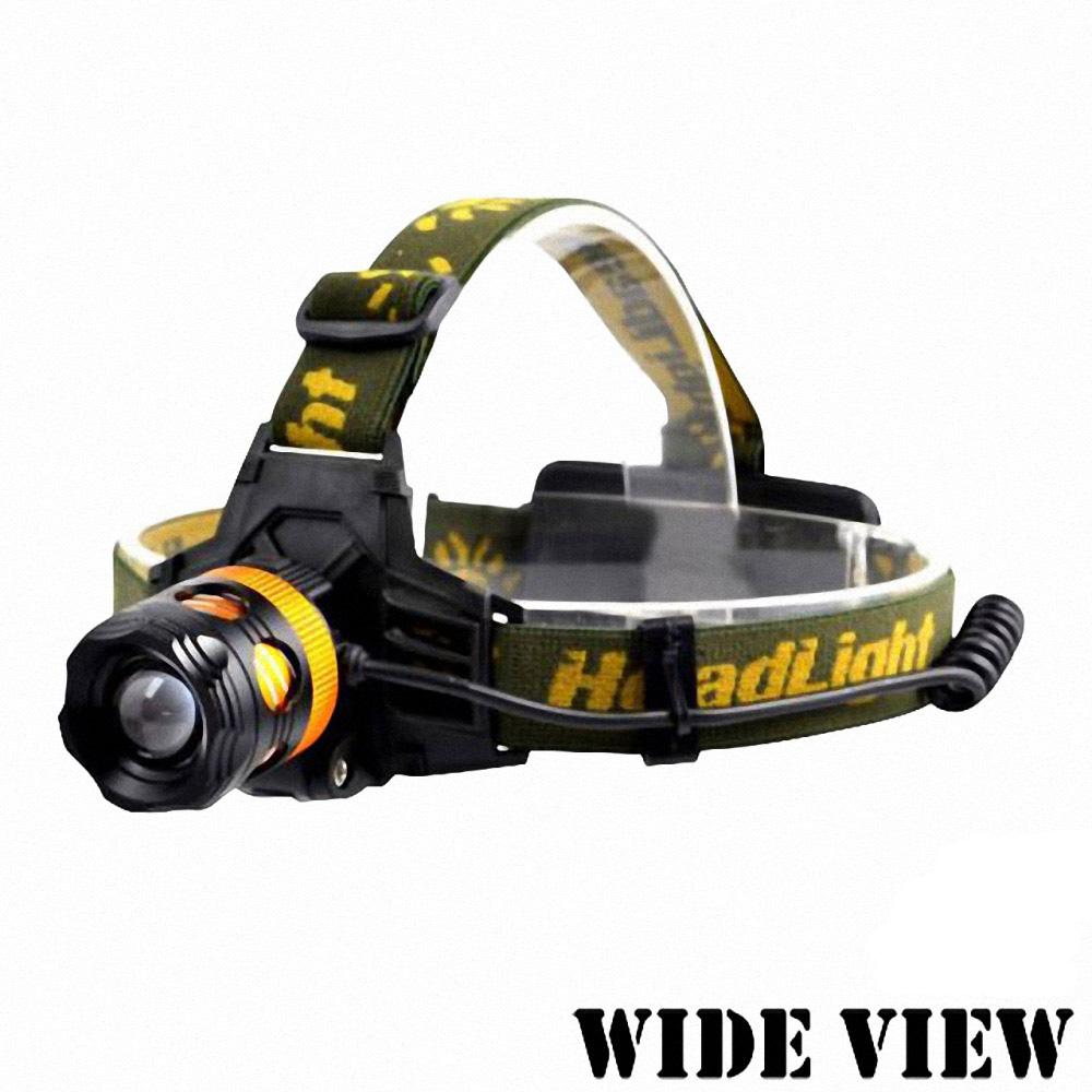 【WIDE VIEW】10W黃白雙光源調焦頭燈(NZL-2900)
