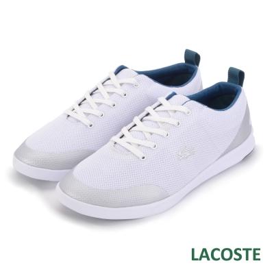 LACOSTE 女用運動休閒鞋-白色