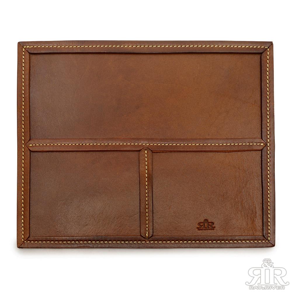 2R 頭層植鞣牛皮Craftsman手工文具墊 質感紅棕