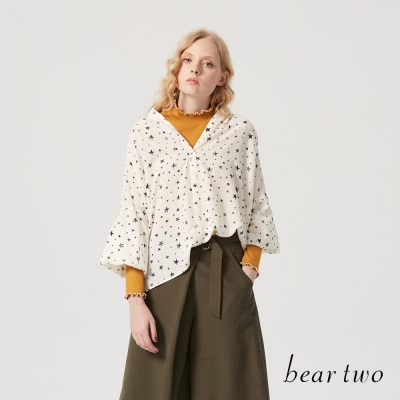 beartwo 星星印花雪紡造型上衣(三色)