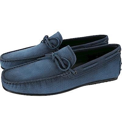 TOD'S City Gommino 漸層麂皮綁帶休閒豆豆鞋(男鞋/菸藍色)
