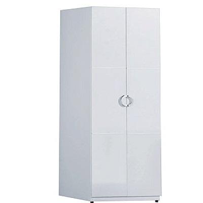 品家居 德亞莉2.3尺二門雙吊衣櫃-70x54x197cm免組
