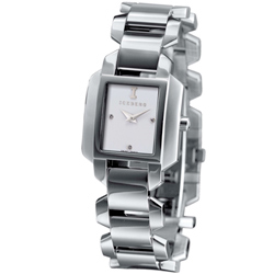 ICEBERG 501-23 愛自我光芒魅力時尚設計時尚腕鍊帶腕錶-白/28mm