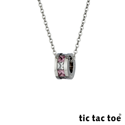 tic tac toe 愛的漫延白鋼女項鍊