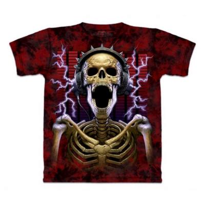 摩達客 美國進口The Mountain 骷髏搖滾  純棉環保短袖T恤