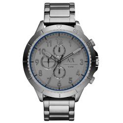A│X Armani Exchange 時刻終戰三眼計時腕錶-灰/50mm