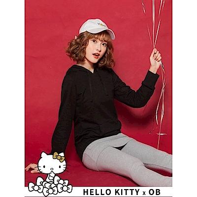 連帽內裡KITTY鑽石造型上衣-OB大尺碼