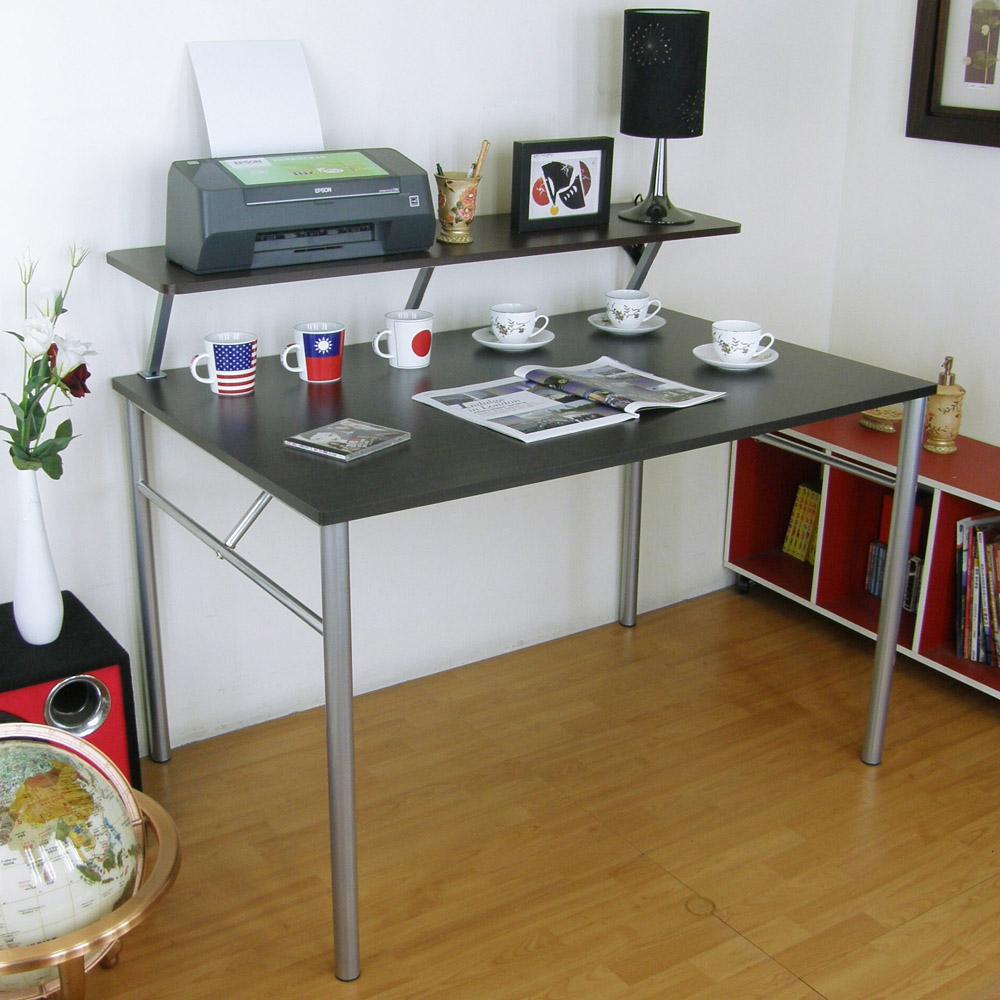 頂堅(桌面60x120cm)書桌(附Z型桌上架120cm/二色)