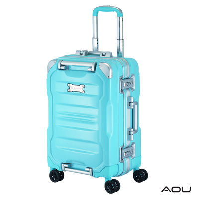 AOU 絕讚耀眼系列 經典巨作 專利產品 20吋PC亮面旅行登機箱(天空藍)90-022C