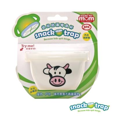 美國 Snack-Trap 幼兒防漏零食杯 - 白底乳牛