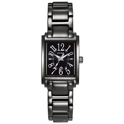 LOVME Mystery時尚腕錶-IP黑x白刻度/23mm