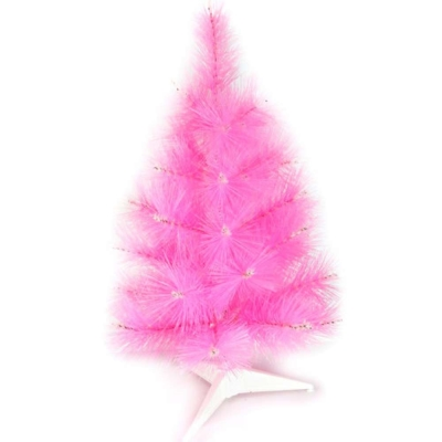 台製2尺(60cm)特級粉紅色松針葉聖誕樹-裸樹