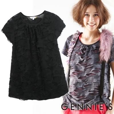 Gennies奇妮-破壞感時尚設計春夏孕婦上衣(G3148)