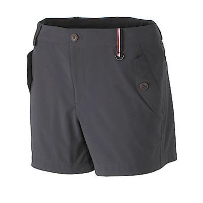 【Wildland 荒野】女RE四向彈性抗UV短褲-深灰