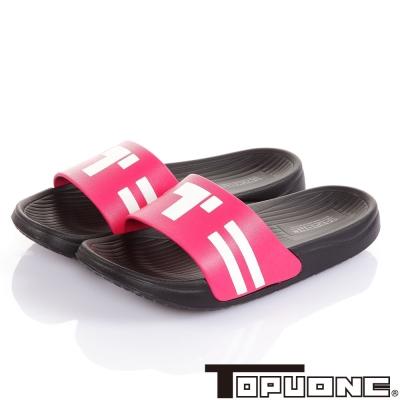 TOPUONE 舒適減壓室內外拖鞋童鞋-黑桃(21.7-24.2cm)