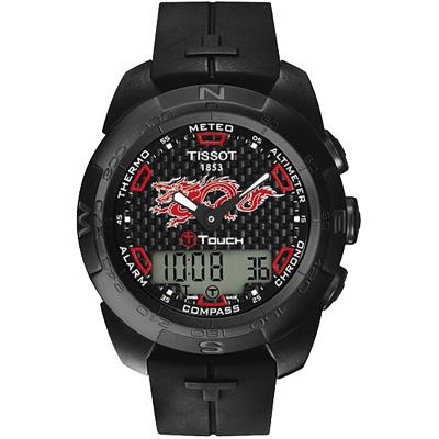 TISSOT T-touch 龍年限定碳纖維【鈦】觸碰式腕錶-43mm