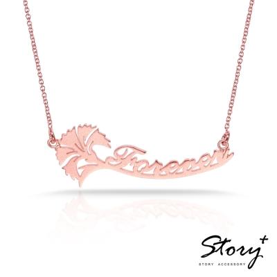 STORY-母親節限定商品-康乃馨字母款 純銀項鍊