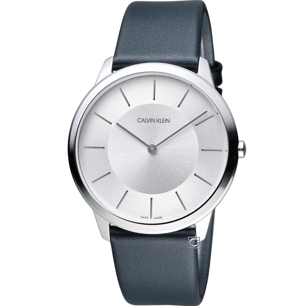 Calvin Klein ck Minimal 俐落時尚腕錶-銀/40mm